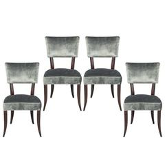 Set of Four Elis Mid Century Modern Style Dining Chairs