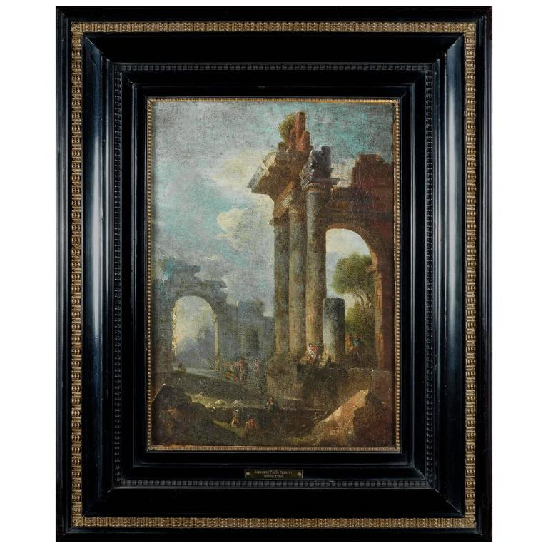 18th Century Italian Grand Tour Architectural Ruins Painting