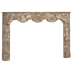 Antique Fireplace Mantel in Rouge Royal Marble