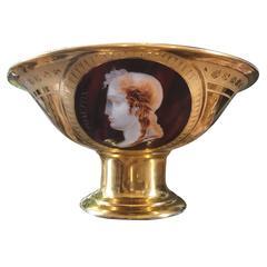 Empire Porcelain Bowl with Cameo Profiles