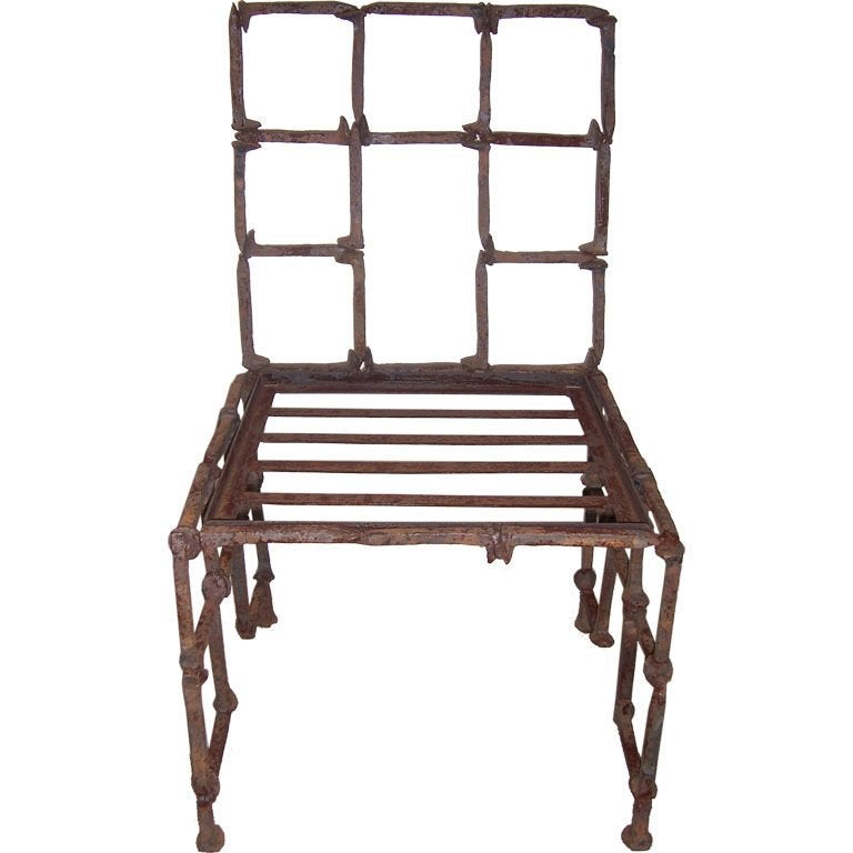 Attrayant Iron Rail Road Spike Chair For Sale At 1stdibs