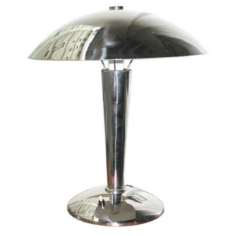 1930s Nickel Desk Lamp