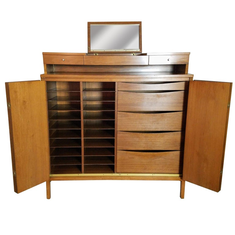 Paul McCobb Irwin Collection for Calvin Furniture Gentleman's Tall Chest, 1956