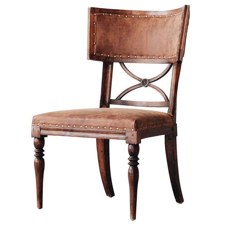 19th Century Swedish Gustavian, Klismos Chair