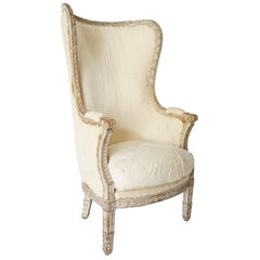 Louis XVI Bergère à Oreilles or Wingback Chair, France, circa 1770