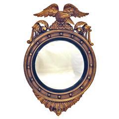 A 19th century Eagle Crested Convex Mirror, England