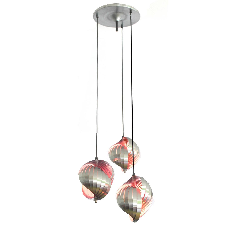 Larege danish modern lyfa sculpture with 3 twisted steel pendants larege danish modern lyfa sculpture with 3 twisted steel pendants lights 1960s for sale at 1stdibs aloadofball Images