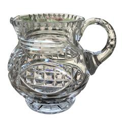 Anglo-Irish William IVth Water Jug or Pitcher Crystal Cut-Glass, Circa 1835