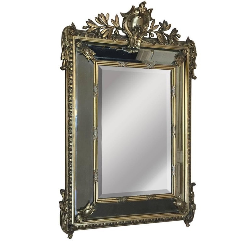 19th Century Neoclassical French Gilded Mirror
