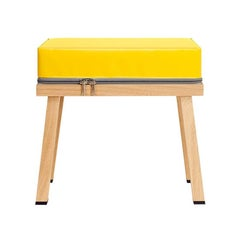 Visser and Meijwaard Truecolors Stool in Yellow PVC Cloth with Zipper