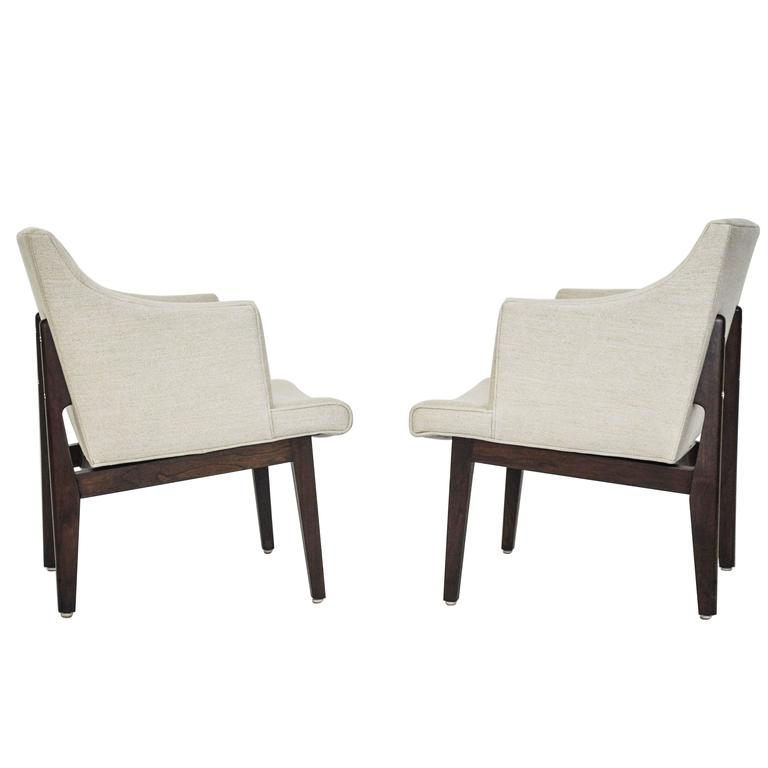 Dunbar Bracket Back Armchairs by Edward Wormley