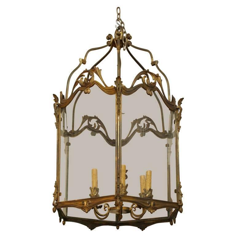 Fine Bronze Louis XV Lantern  1