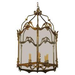 Fine Bronze Louis XV Lantern