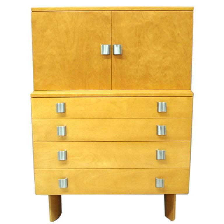 Blonde Chest on Chest by Eilel Saarinen for Johnson Furniture For Sale