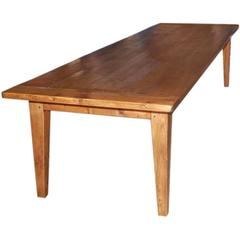 Expandable Harvest Table in Reclaimed Pine, Built to Order by Petersen Antiques