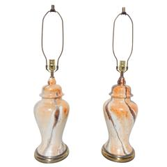 Pair of Ginger Jar Table Lamps