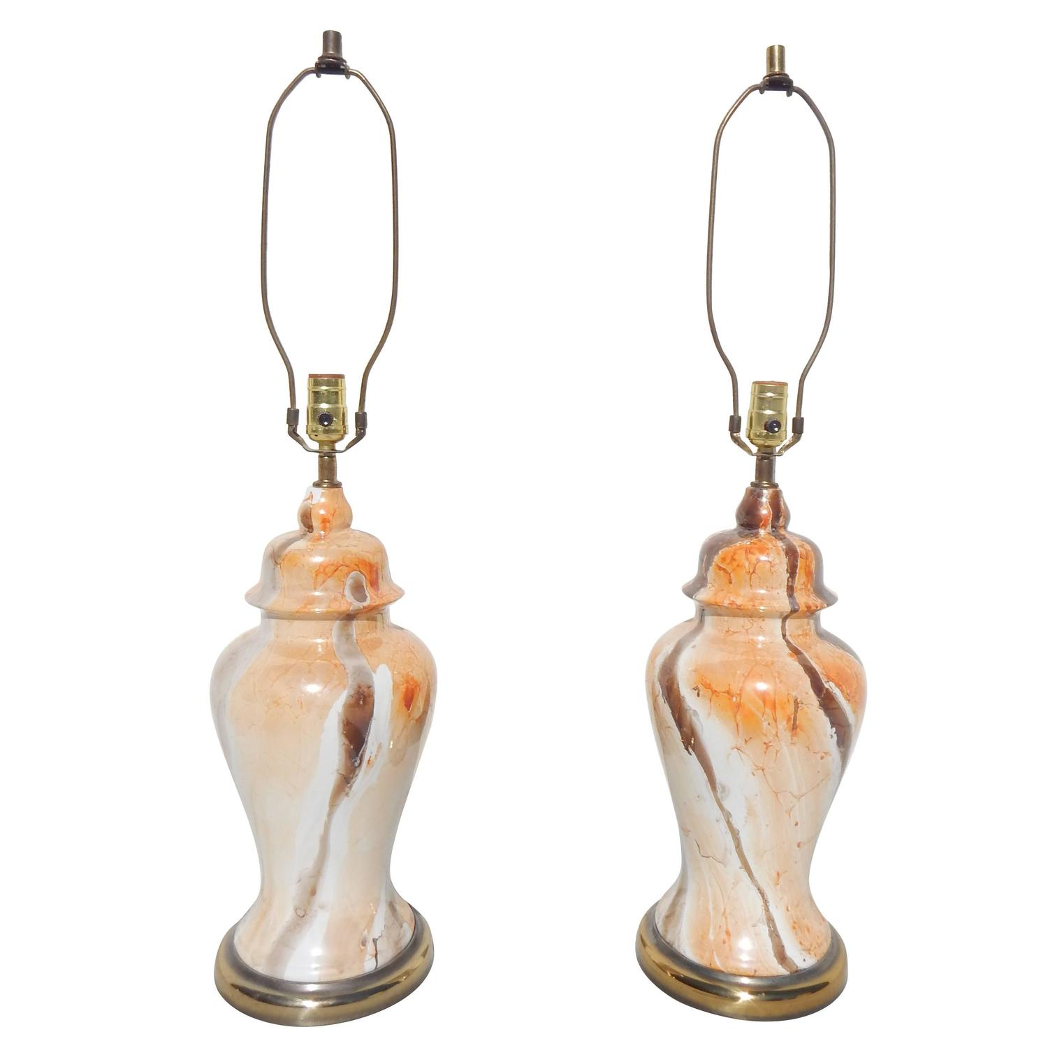 pair of ginger jar table lamps for sale at 1stdibs. Black Bedroom Furniture Sets. Home Design Ideas