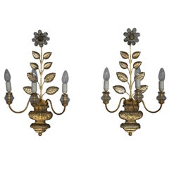 A pair of Fine French 1950's Sconces by Maison Bagues