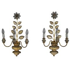 A pair of French Mid-Century Sconces by Bagues