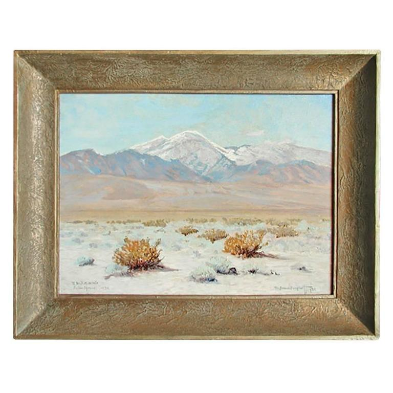 Oil Painting of Palm Springs For Sale