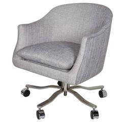 Mid-Century Modern Swivel Desk Chair Designed by Ward Bennett