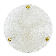 Bubble Textured Glass Flush Mount, 1960s