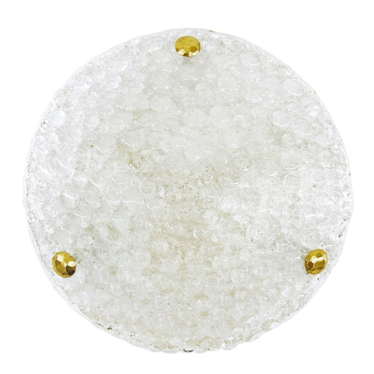 Bubble Textured Glass Flush Mount, 1960s