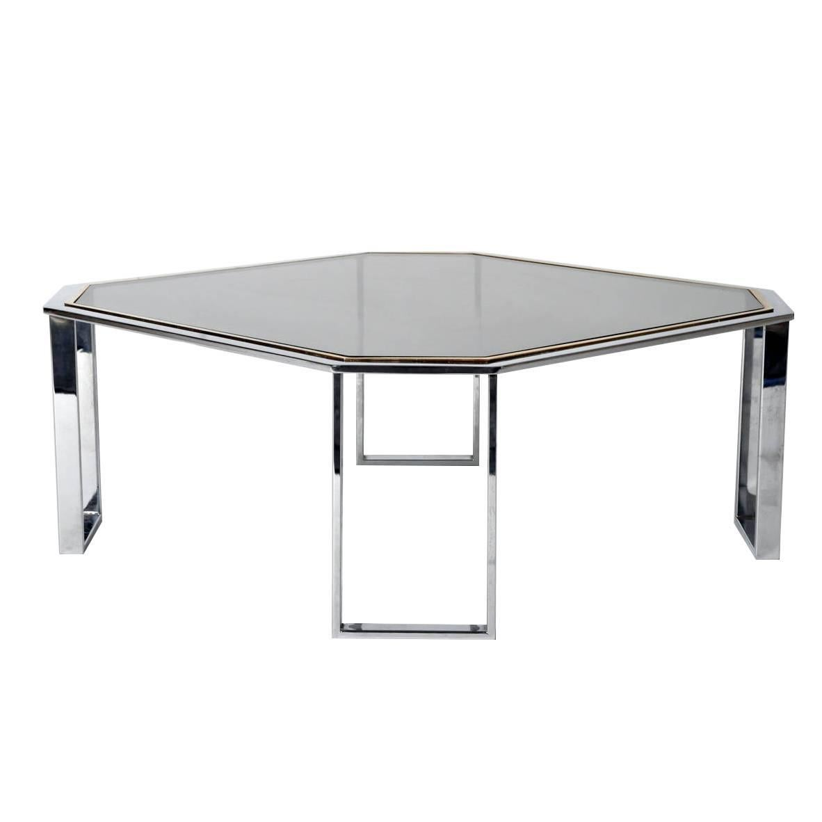 Two-Toned Octagonal Coffee Table