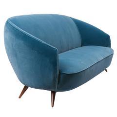 Ico Parisi Style Sofa, circa 1950