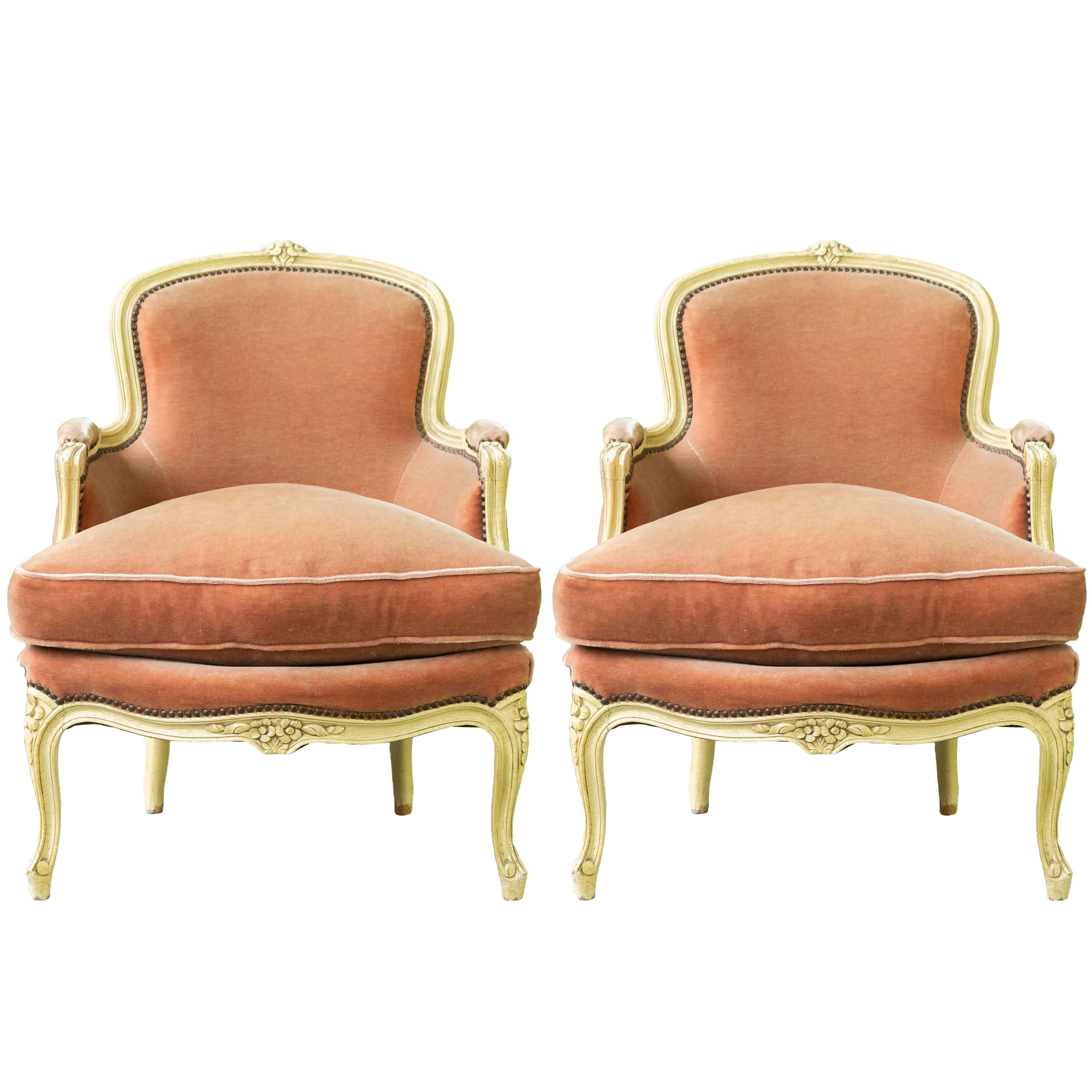 Fine Set Of Four Beechwood Louis Xv Style Fauteuils Armchairs