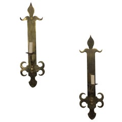 Pair of French Brass Sconces