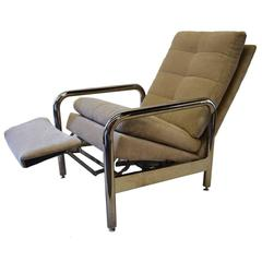 Chrome Recliner by Milo Baughman for Thayer Coggin