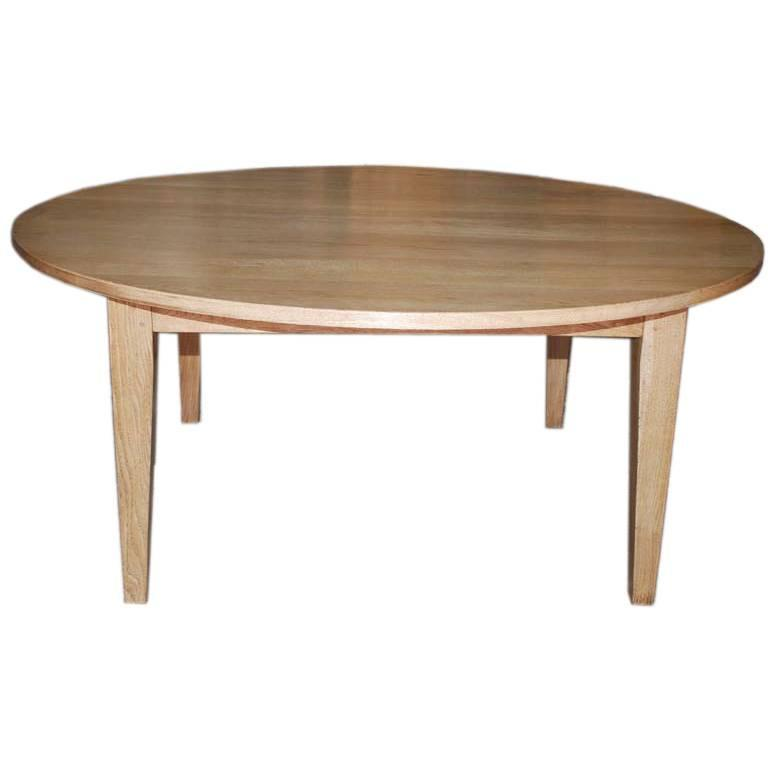 Simple mission style dining table in oak can be built to for Built in dining table