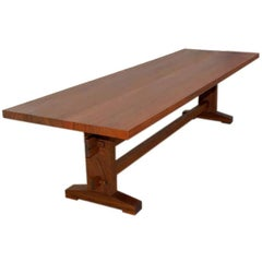 Outdoor Dining Table in Solid Ipe' Wood, Custom Made by Petersen Antiques
