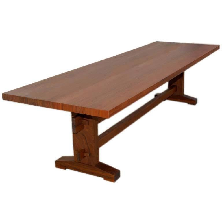Outdoor Dining Table in Solid Ipe' Wood, Custom Made by Petersen Antiques For Sale