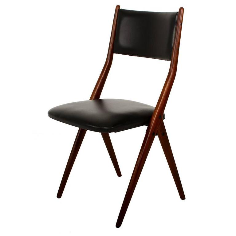 Pair Of Four Midcentury Italian Dining Chair Chairs For