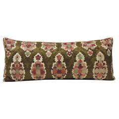 Moroccan Embroidery Antique Silk Bolster Decorative Pillow