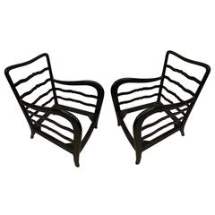 Exceptional Pair of Italian Armchairs by Paolo Buffa