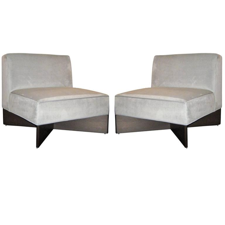Pair of Pierre Guariche Slipper Chairs