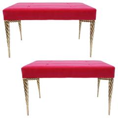 Pair of Swirl Stiletto Benches