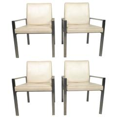Midcentury Aluminum Frame Dining Chairs