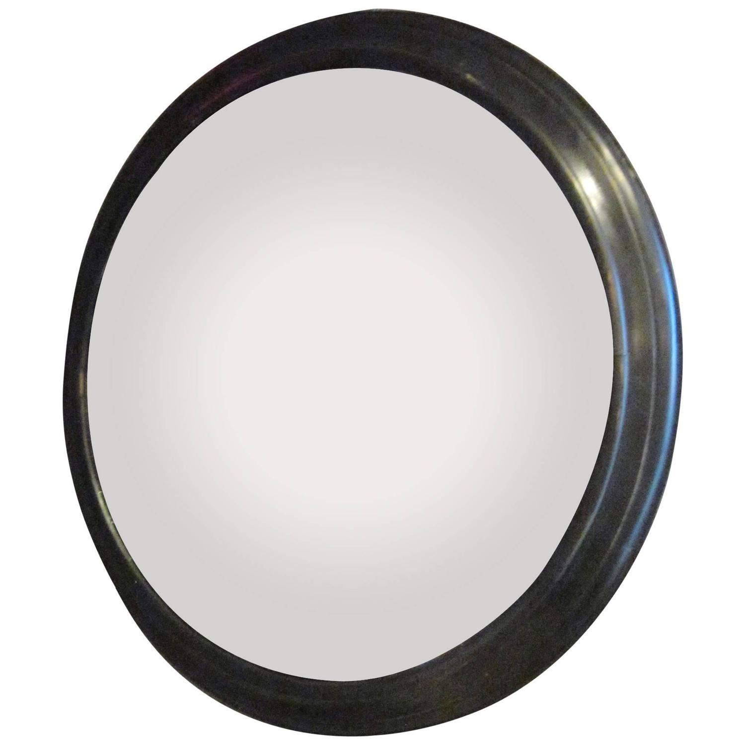 french napoleon iii extra large round convex mirror in