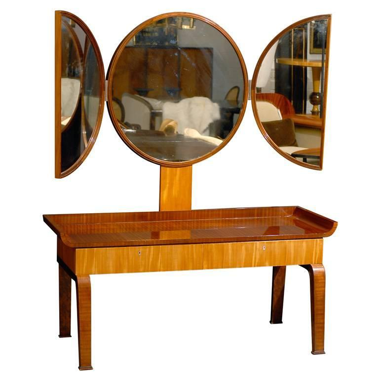 Swedish Art Deco Moderne Dressing Table attributed to Boet