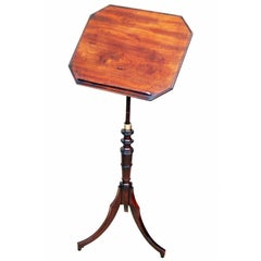 Antique Georgian Mahogany Music Stand or Reading Table