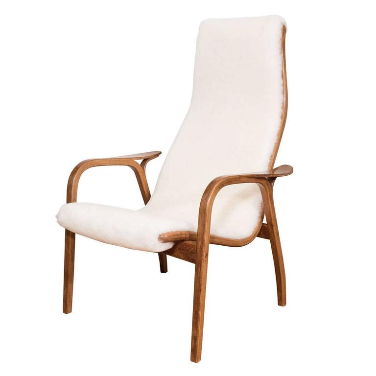 A Single Yngve Ekstrom Beech'Lamino' Lounge Chair for Swedese at 1stdibs