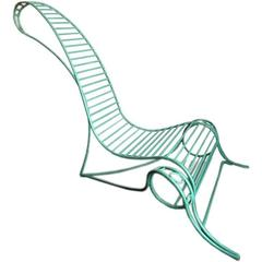 Wrought-Iron Chair in the Style of André Dubreuil