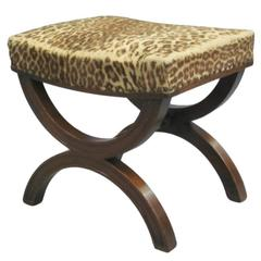 French Modern Neoclassical Bench or Stool in the Manner of Andre Arbus