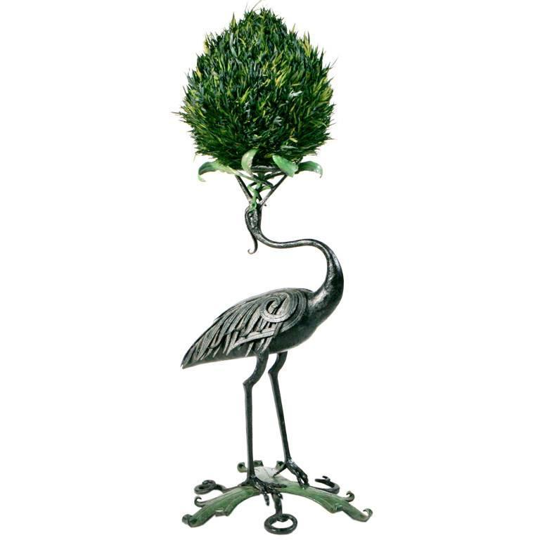 French Iron Heron Stand