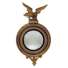 Early 19th Century Regency Convex Mirror, 48″ x 26″