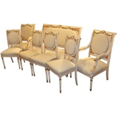 Paint and Gilt Suite of Furniture